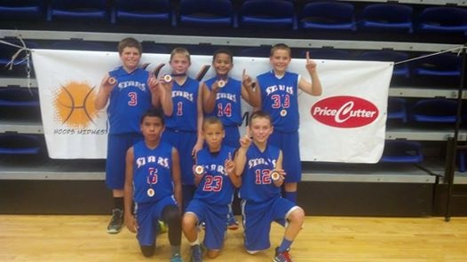 The Springfield Stars--Champs of the 5th grade boys division of the Price Cutter Fall Kickoff September 2014