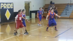 The Gym Rats prepare to play defense against the Seneca Indians