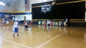 Tigers attempt a free throw against Seneca