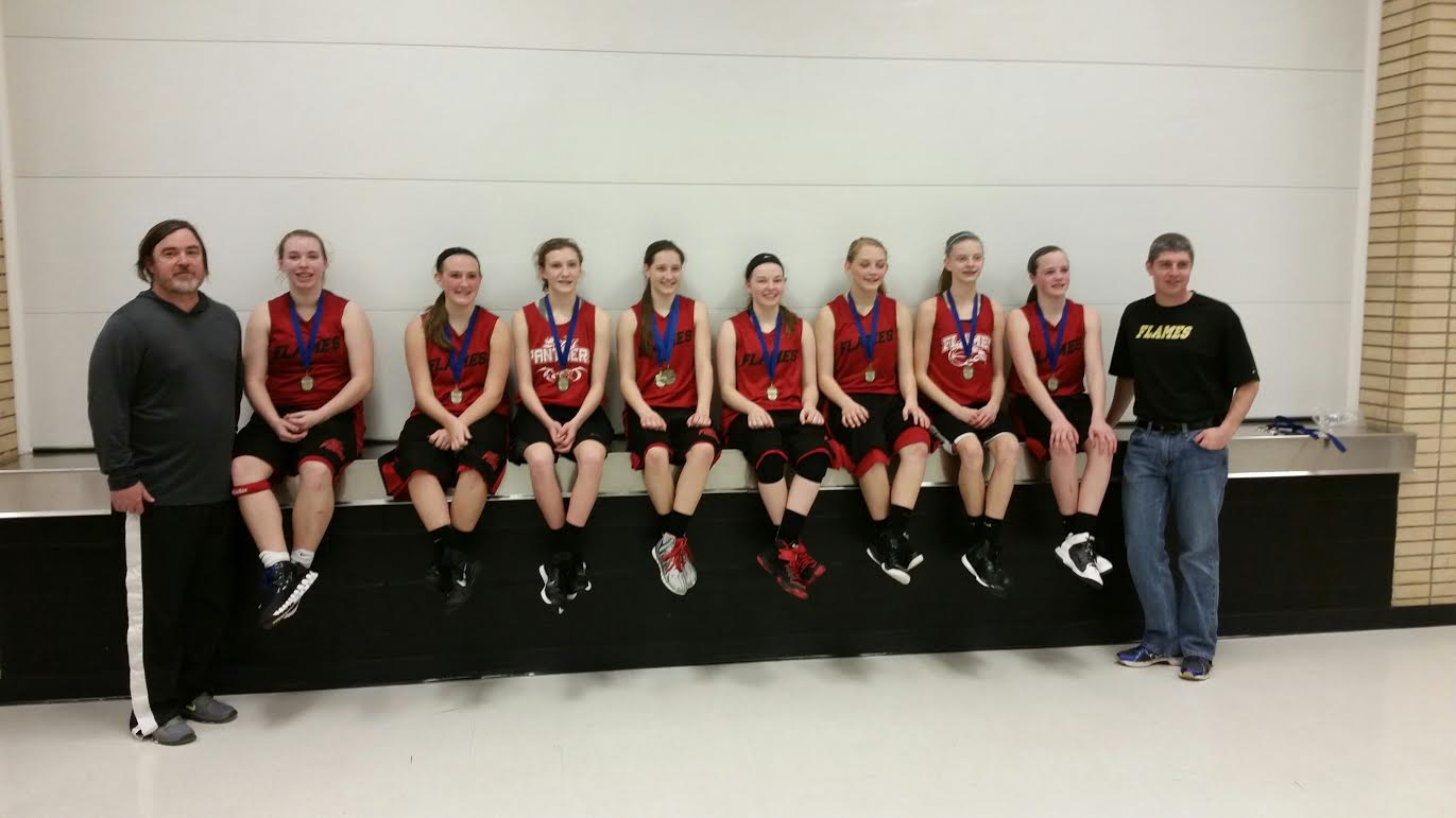 The Flames captured first place in their first appearance with Hoops Midwest